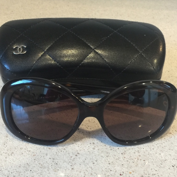 cd1757bf2d075 CHANEL Accessories - CHANEL CC Logos Quilted Sunglasses Plastic Brown